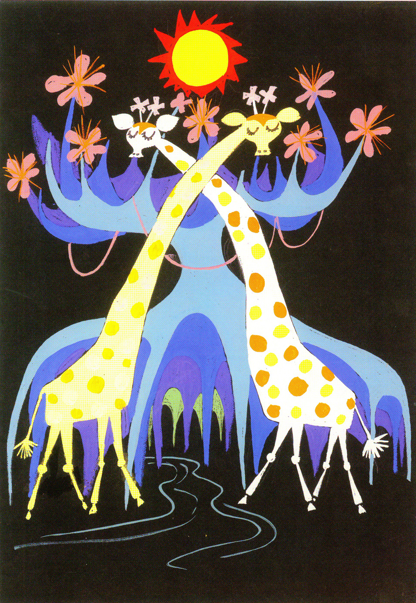 Mary Blair two giraffes