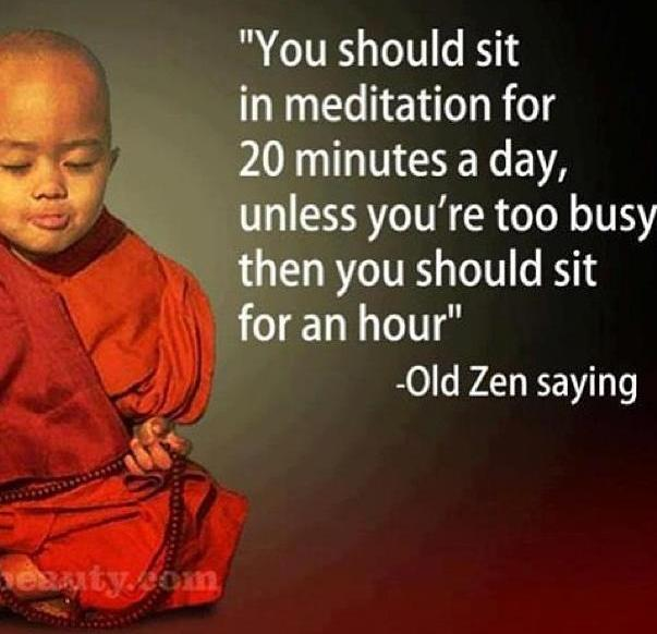 Silent Retreat - Providence Life Coaching and Reiki Counseling - you should sit for twenty minutes per day Zen saying Meditation