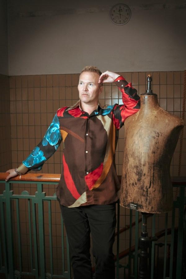 washed blouse nature Classic pants Charcoal Michael van der meide