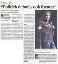 Interview n.a.v. het kopstukkendebat in de Arenbergschouwburg (verkiezingen 2012)