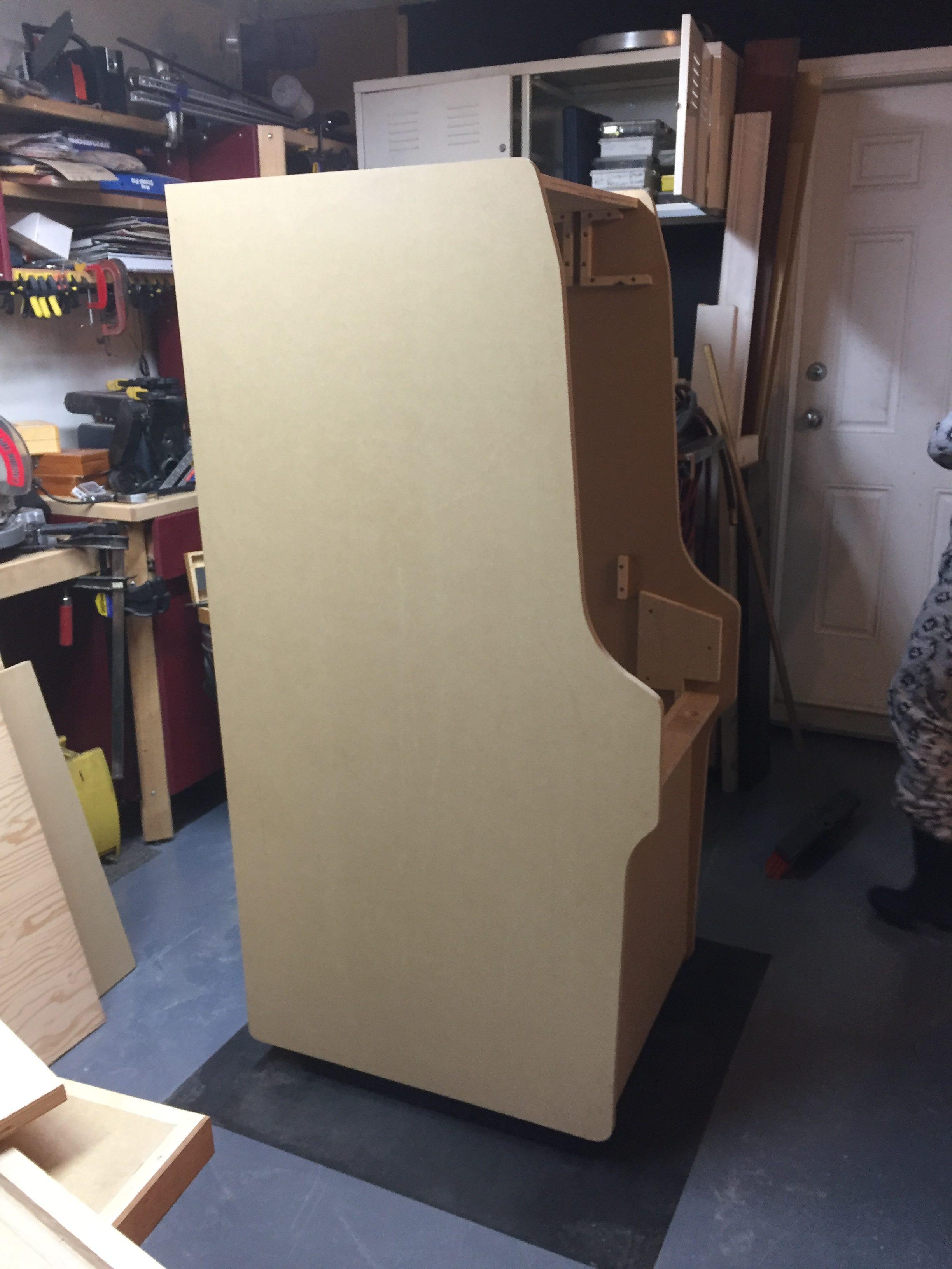 Donkey Kong Arcade Machine - Upright Side View