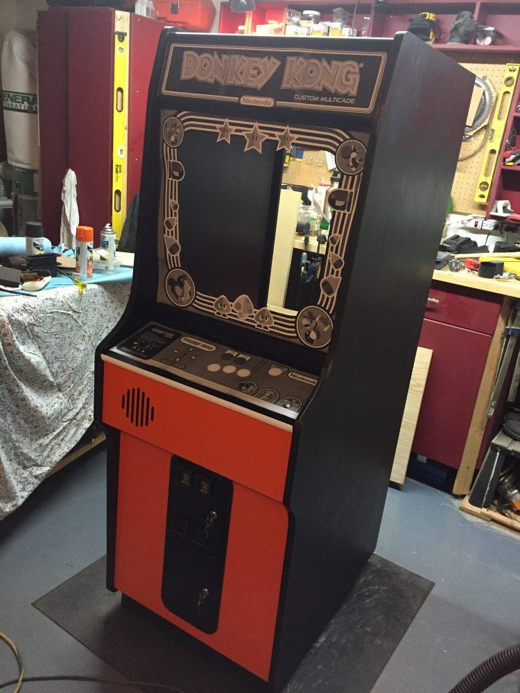 Donkey Kong Arcade Machine: Graphic Mockup