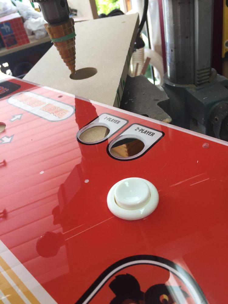 Donkey Kong Arcade Machine: Auxiliary Hole Test Fit