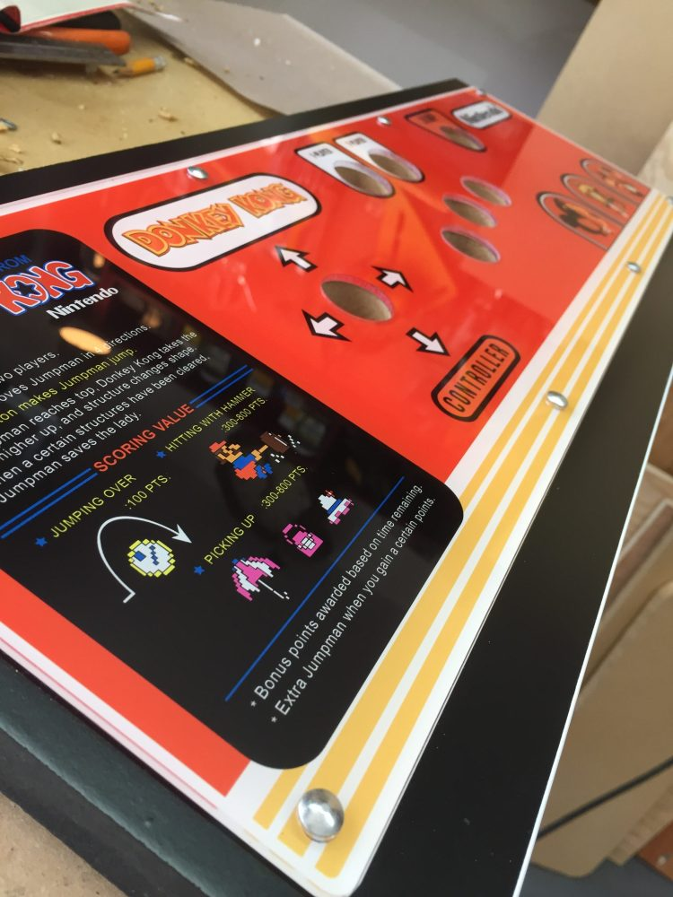 Donkey Kong Arcade Machine: Carriage Bolts in Place