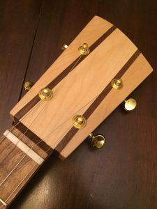 Punch Cigar Box Guitar Review - Headstock
