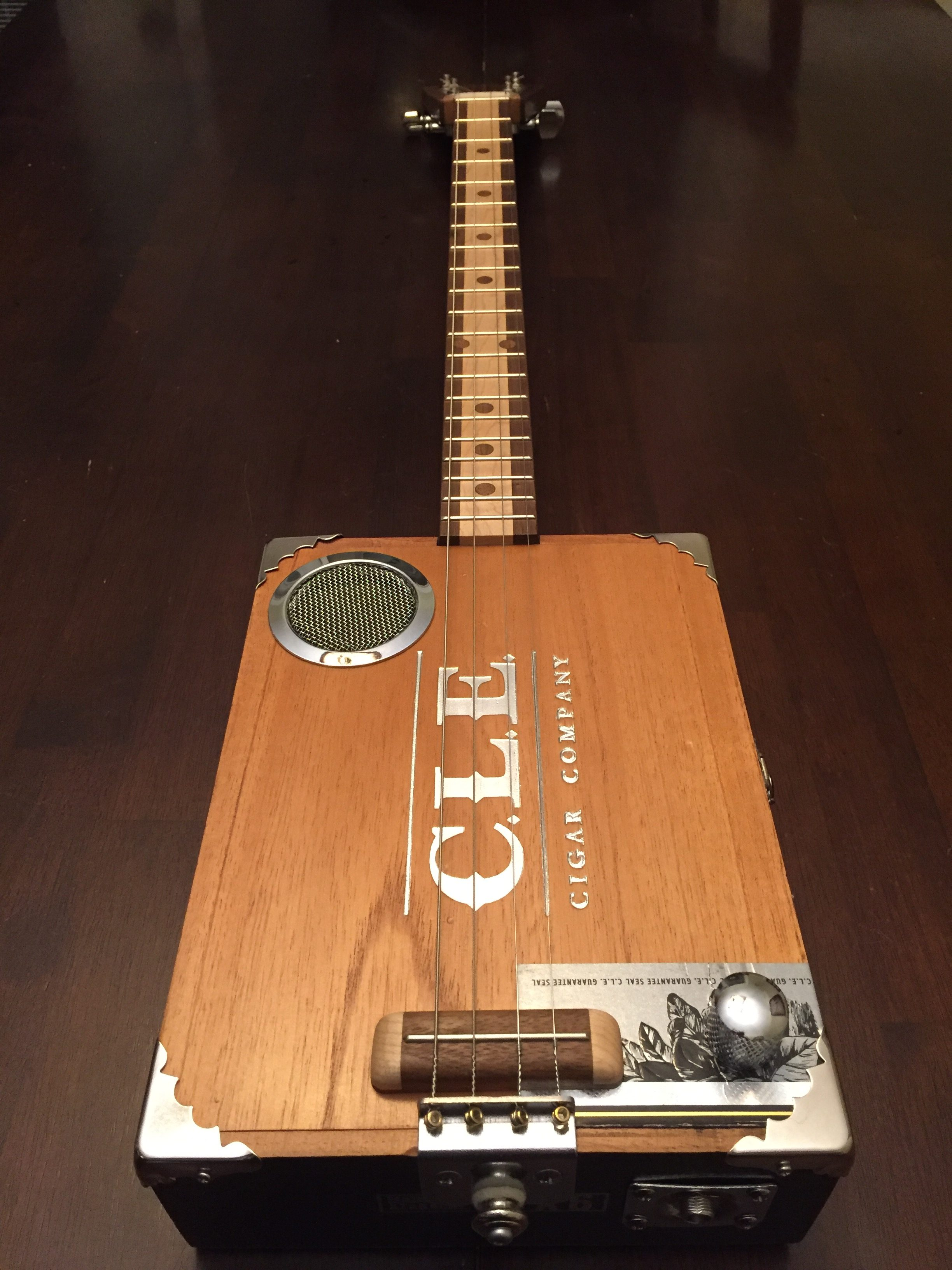 CLE Cigar Box Guitar Build - Full view