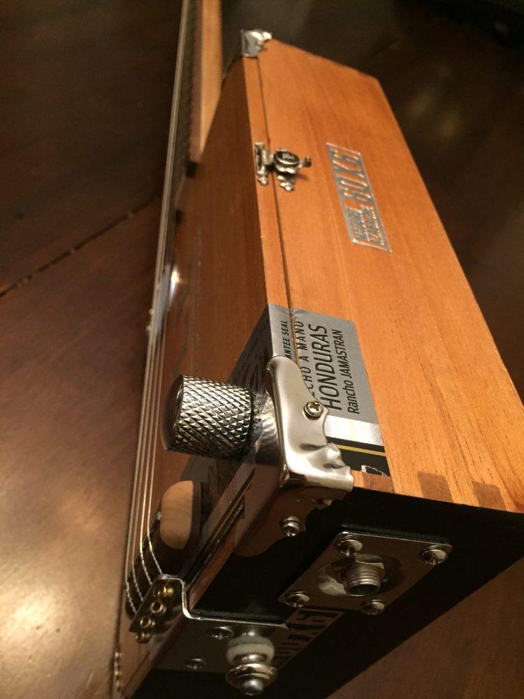 CLE Cigar Box Guitar Build - Side details