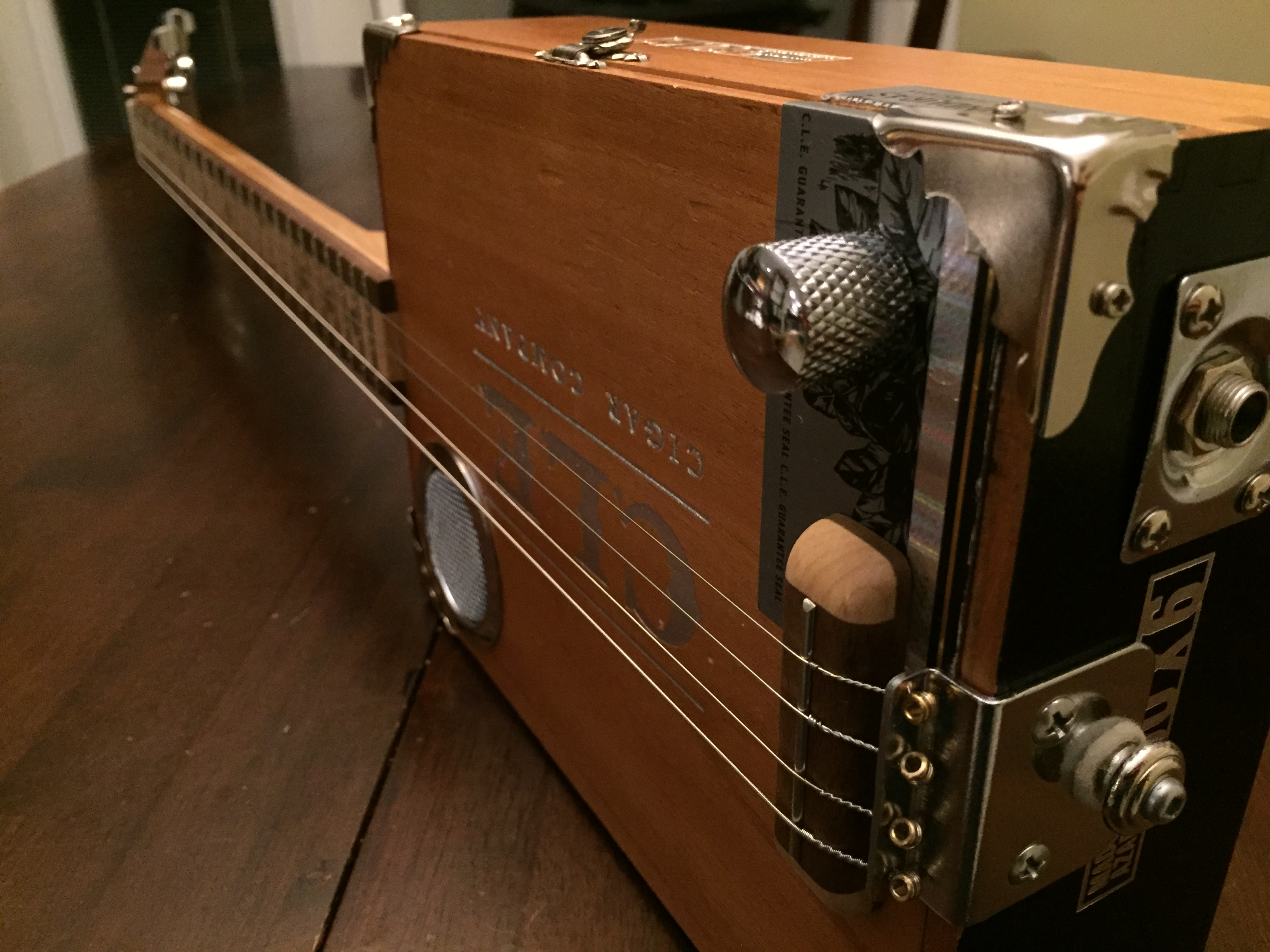 CLE Cigar Box Guitar Build - end-to-end