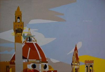 Michal Korman: Firenze, oil on canvas 50×73 cm, 2008 Brussels