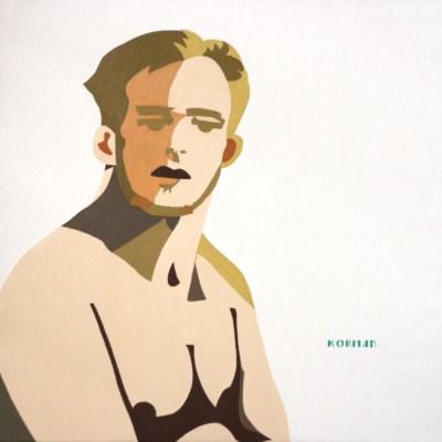 Michal Korman: Self-portrait, oil on canvas 70x70cm, 2009 Paris