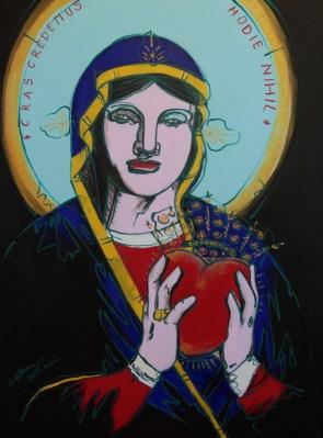 Michal Korman: Maltese Madonna, oil on canvas 116x89 cm, 2012 Paris