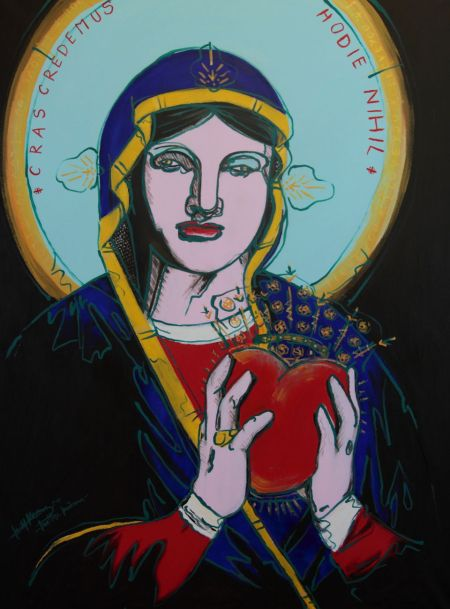 Michal Korman: Maltese Madonna, oil on canvas 116x89 cm, 2012 Paris