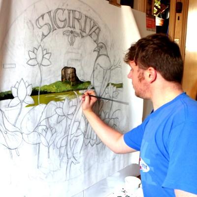 Michal Korman: working on tondo