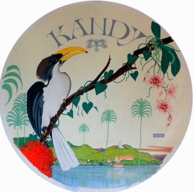 Michal Korman: Kandy (A Sri-lankan grey hornbill), oil on canvas, 100 cm, 2016 Paris, Eraeilya Villas and Gardens