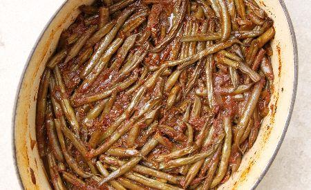 לדברים טובים שווה לחכות / שעועית ירוקה בבישול ארוך בתנור