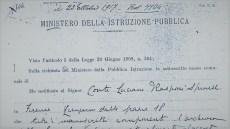 1917 – Prima Notifica di Interesse Storico sulle Carte Vasari