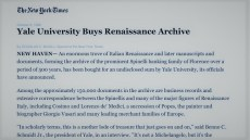 1988 – L'Università di Yale acquista l'Archivio Rasponi Spinelli