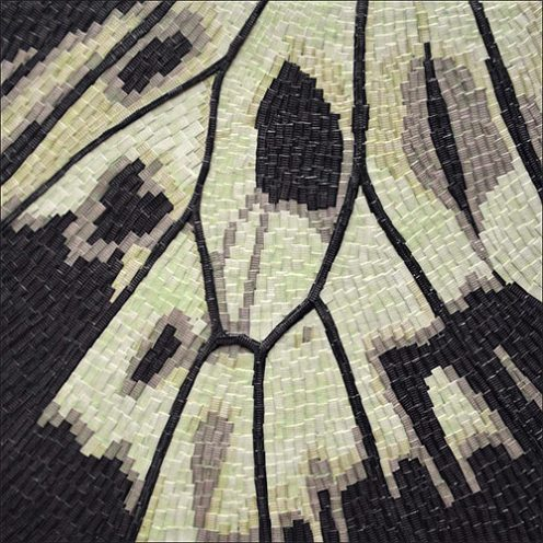 Aile de papillons -Micro-collages 12 x 12cm - VENDU