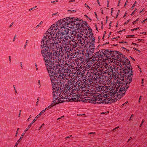 Cœur - Micro-collages 12x12 cm - 150€