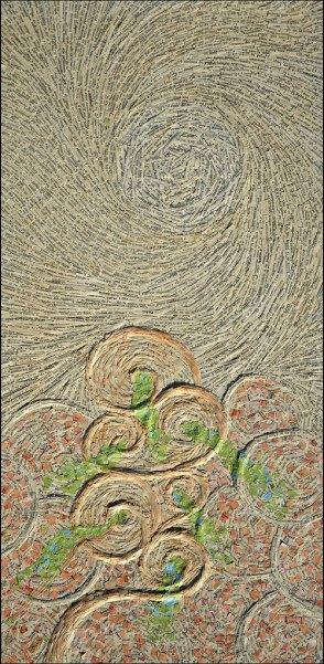 Maelstrom - Micro-collages 30x60 cm - 1750€