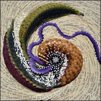 Nautile - Micro-collage 15x15 cm - VENDU