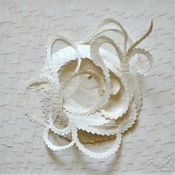 Circonvolutiblanche 1 - Micro-collages 15x15 cm - 250€