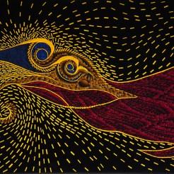 Cameleon hypnogogique - Micro-collages 27x46 cm