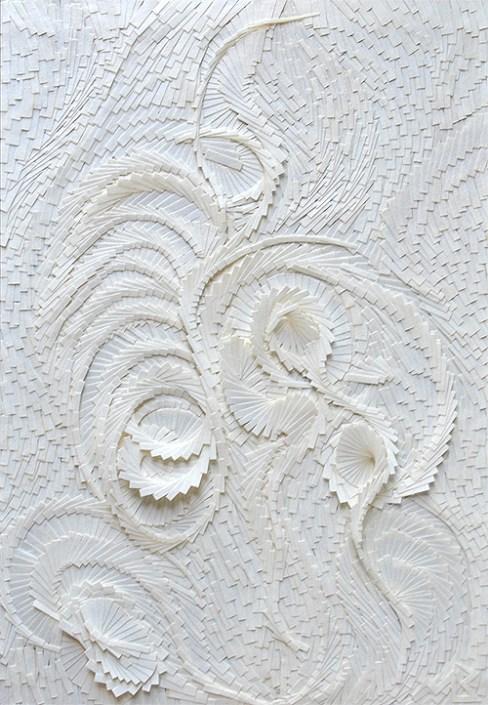 Circonvolution blanche verticale 2 - 14,5x21cm