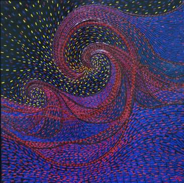 Vagues - Micro-collages 50x50 cm