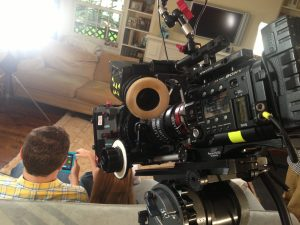 F55 and a Small HD monitor on a infomercial