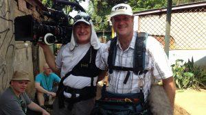Alain and I in Nicaragua Sony F55