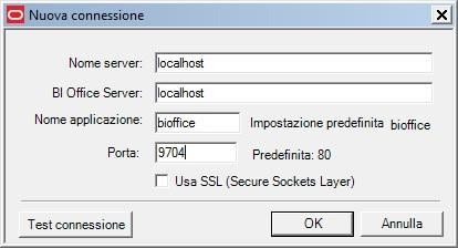 parametri di connessione desktop obi
