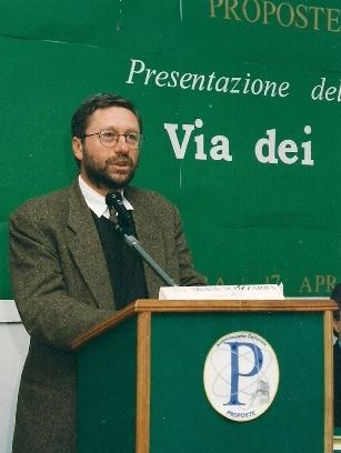 """Michele Scozzarra durante l'intervento alla presentazione del libro """"La via dei mulini"""""""