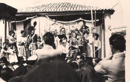 Momenti dell'incoronazione e della processione della Madonna della Montagna nel 1956