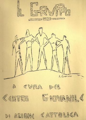 """La prima copertina del giornale """"Il Gruppo"""" edito dal Centro Giovanile di Azione Cattolica nel 1975"""