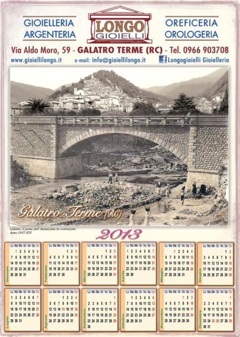 Calendario Longo Gioielli 2013 - Galatro