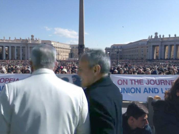 7 MARZO A ROMA IN PIAZZA SAN PIETRO PAPA FRANCESCO INCONTRA COMUNIONE E LIBERAZIONE