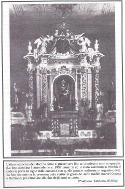 L'altare della chiesa della Montagna come si presentava nei primi anni '50