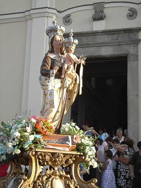 La Madonna del Carmine.