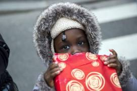 Christmas gifts distribution for children in need