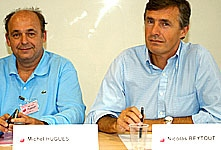 Lors des universités d'été du MEDEF 2006 avec Nicolas BEYTOUT