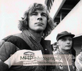James Hunt & Niki Lauda late 1976 - Copyright Photo MH - www.michelhugues.com