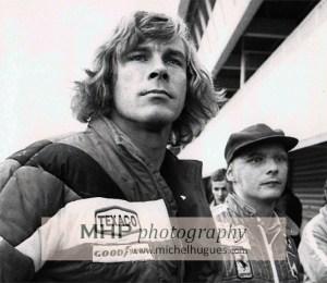 James Hunt & Niki Lauda fin 1976 - Copyright photos MH - www.michelhugues.com