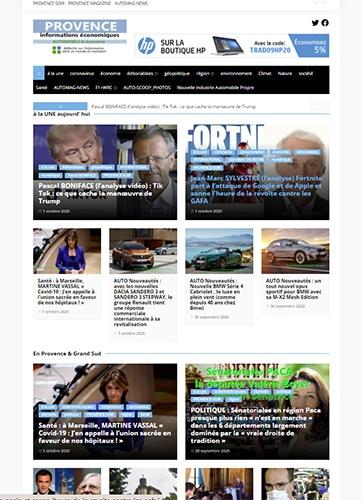 le quotidien Provence Informations Economiques sera publié de juin 2002 à Octobre 2020 : fondateur Michel HUGUES - www.michelhugues.com