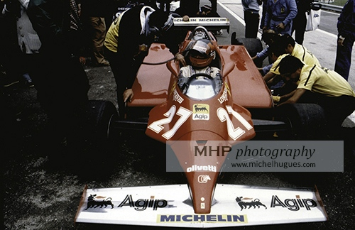 """little prince"" of Formula One: Gilles Villeneuve - Copyright Photo MH - www.michelhugues.com"