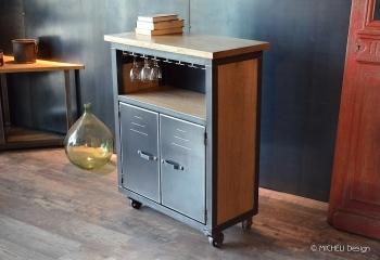 meuble de cuisine ilot bar sur mesure