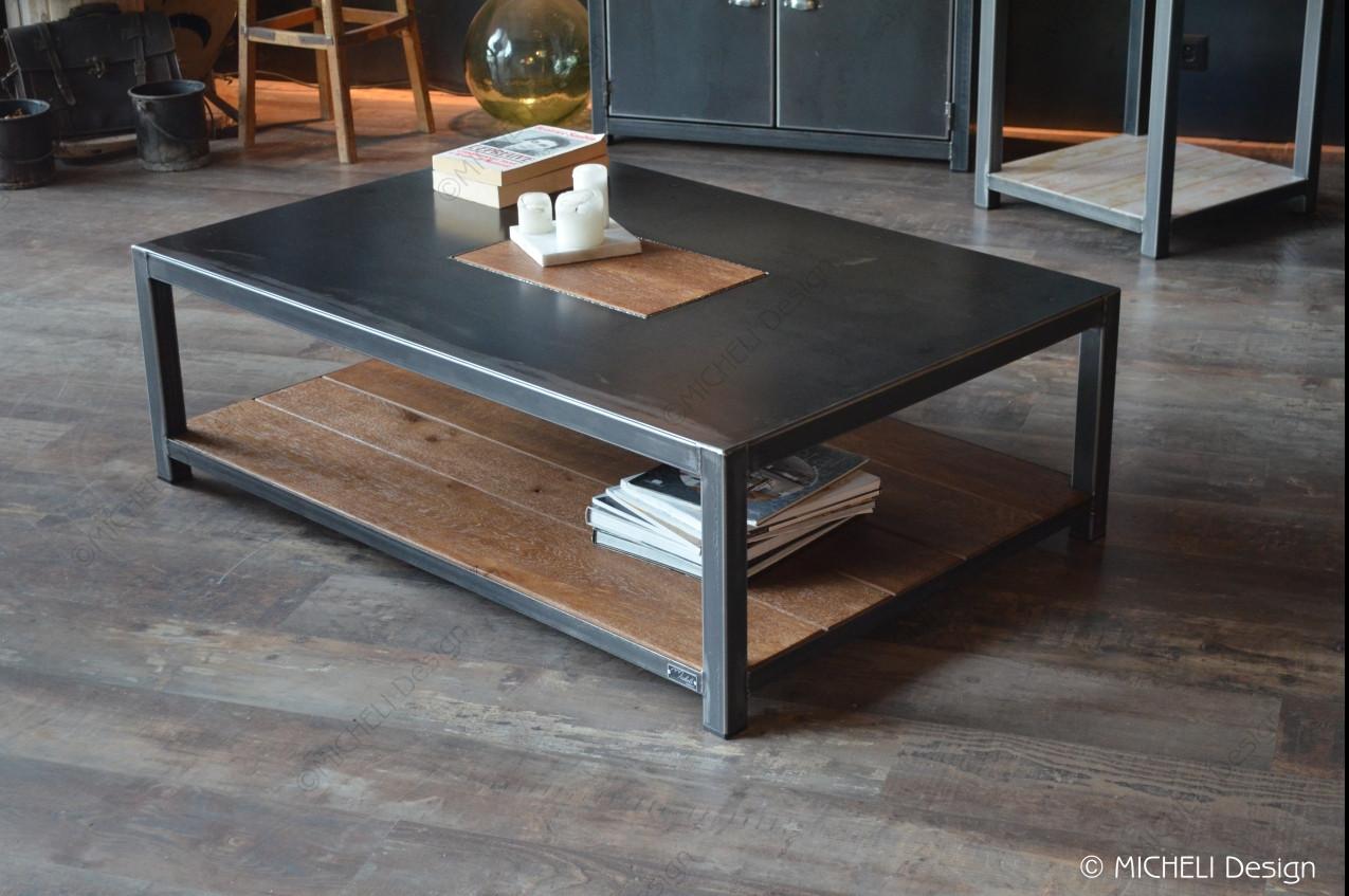 table basse rectangle sur mesure en