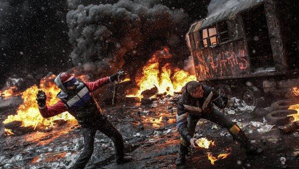 Violent Protesters in Ukraine