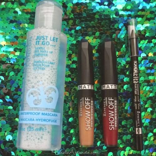 Product Fail: Rimmel London Matte Lip Velvets, Scandaleyes liner & Eye makeup remover