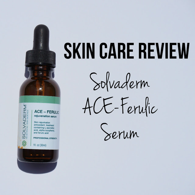 Review: Solvaderm Skincare ACE-Ferulic Serum